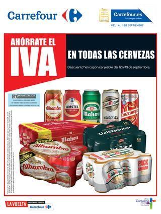 Ahórrate el IVA en Carrefour en  todas las cervezas del 1 al 11 de septiembre -  Nuevo catálogo Carrefour con ofertas válidas del 1 al 11 de septiembre de 2017. Promoción especial: Ahórrate el IVA en todas las cervezas Carrefour:Alhambra, Amstel, Mahou, San Miguel, Cruzcampo.. Catálogo online    #CatálogosCarrefour, #Catálogosonline  #Alhambra, #Amstel, #Cruzcampo, #Mahou, #San, #SanMiguel Ver en la web : https://ofertassupermercados.es/ahorrate-iva-carrefour-to