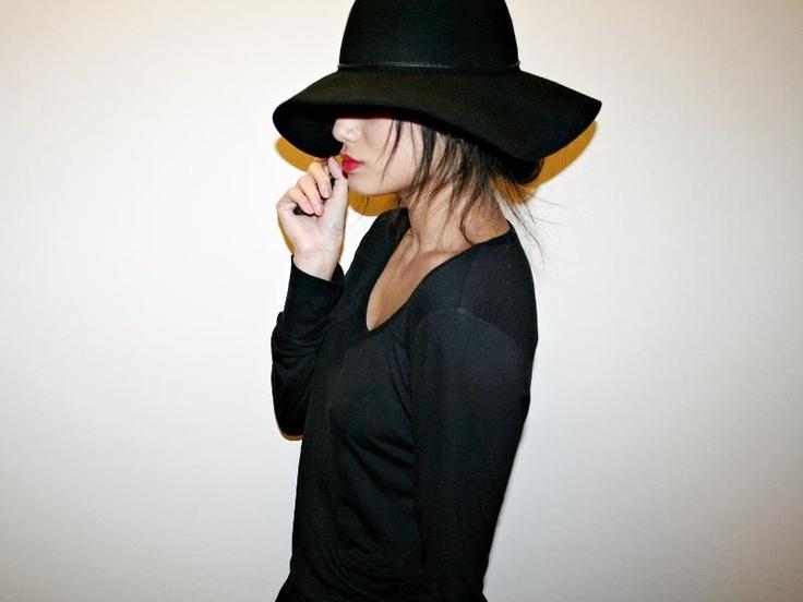 Black on blackBlack Loooove, Black Just Straight, Fabulous Hats, Black On Black, Favorite, Fashion Obsession, Black Beautiful, Things Black, Work Attire