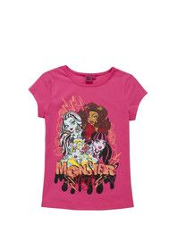 Monster High Print T-Shirt from Tesco