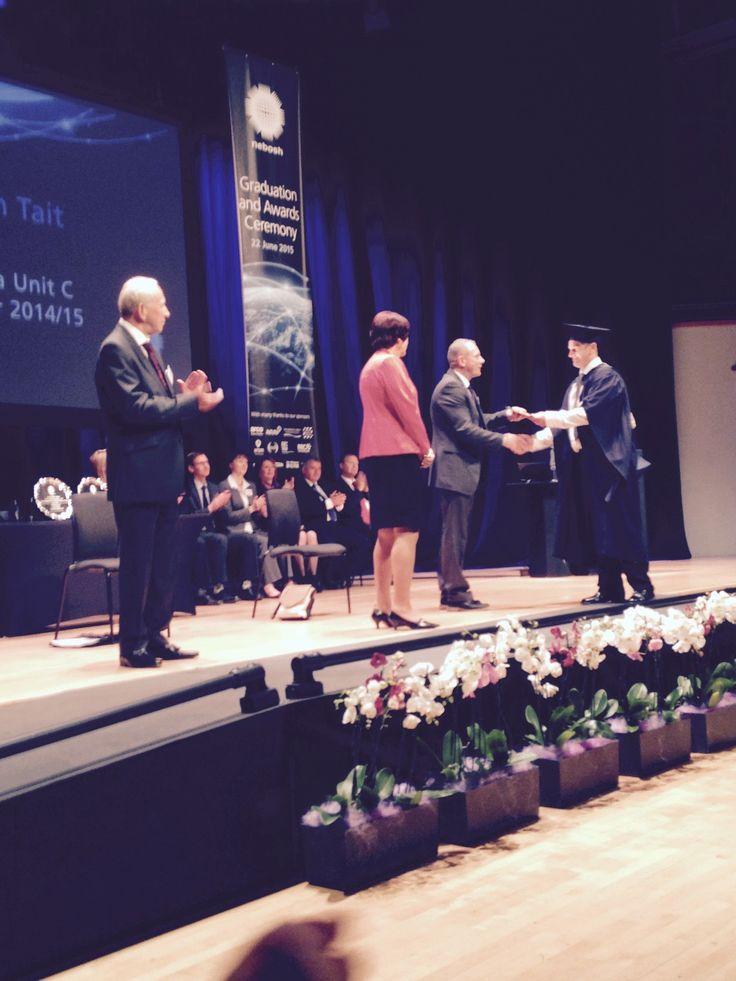 CEO Nigel Donohue presenting the NEBOSH Unit C Best Candidate Award