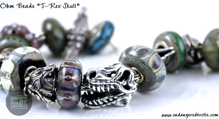 Ohm Beads T- Rex Skull