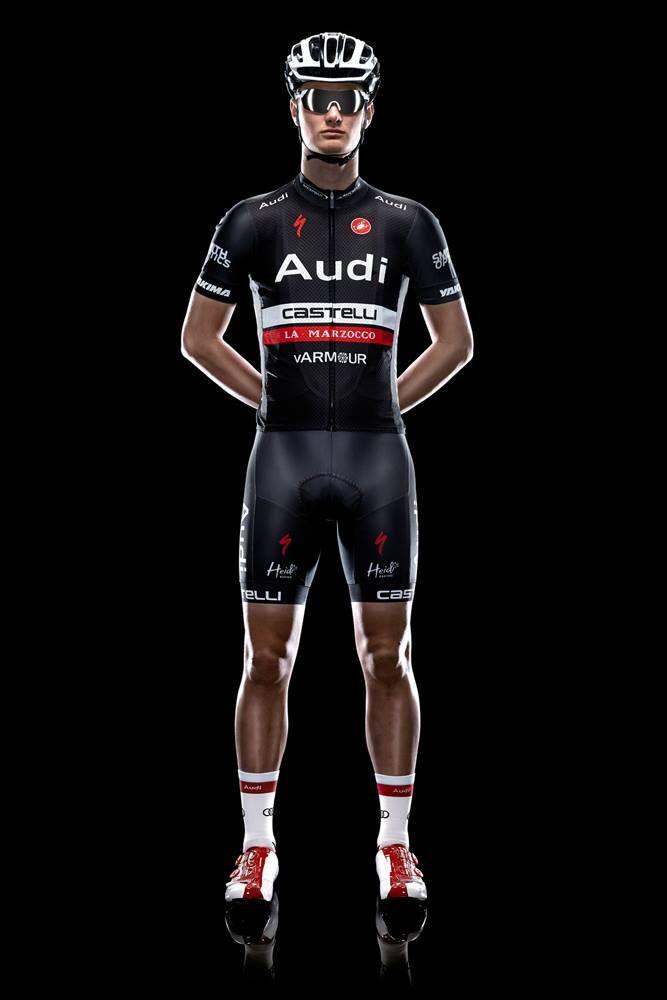The 2014 Audi Cycling Team kits. Sponsored by Specialized, Castelli, Shimano, Smith Optics and Yakima.