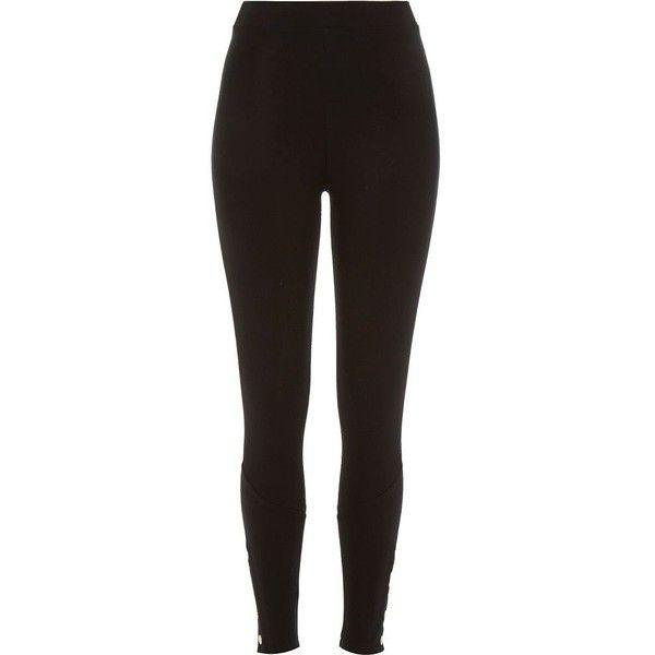 River Island Black premium high waisted popper leggings found on Polyvore