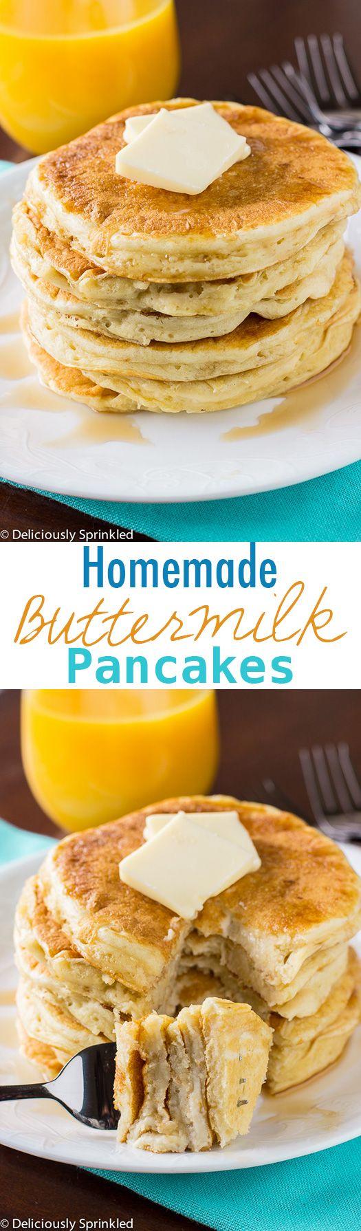 The BEST Homemade Buttermilk Pancakes