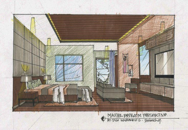 master bedroom sketch
