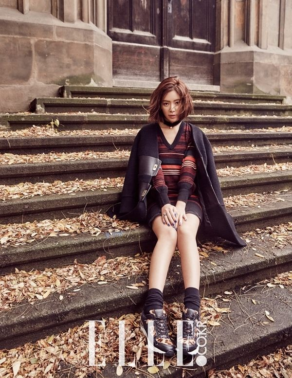Hwang Jung Eum in Prague for Elle Korea