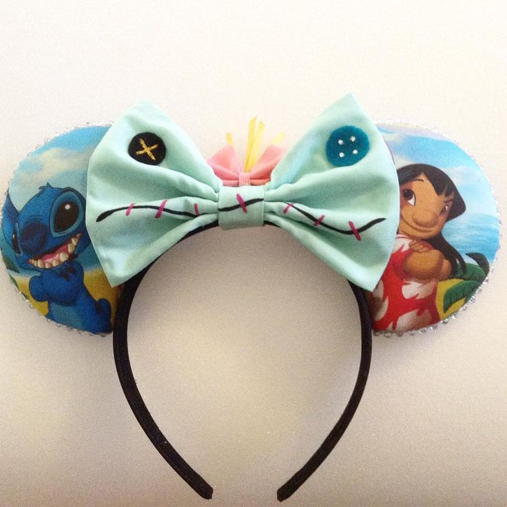Lilo and Stich Minnie Mouse Disney Ears Source Instagram @earbowtique