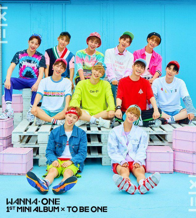 Wanna One reveal two unique, happy and chic group album covers! | allkpop.com  Their debut mini album will come in two very unique versions - the pink version and the sky version set for release on       07 August 2017 at 6PM KST.