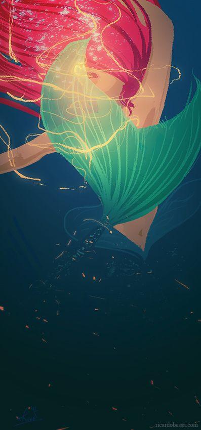 Ariel - The Little Mermaid by Ricardo Bessa #art #fanart #disney