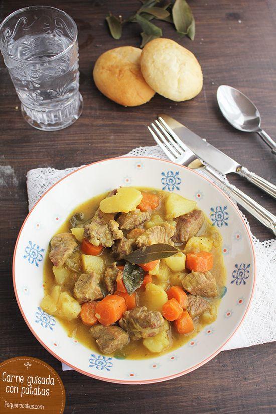 Carne guisada. Receta de carne guisada con patatas