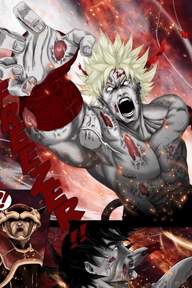 dbz awesome artwork bardock super saiyan goku vs frieza