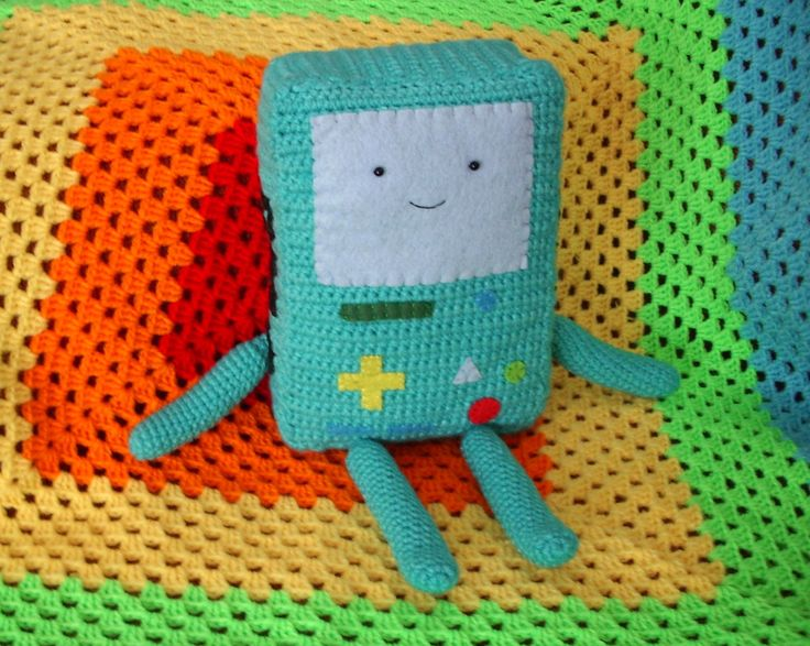Crocheted BMO, Crochet Bmo, Adventure Time Crochet Plushie, Finn, Jake, Bmo  Perfect Gift, Handmade Plush, Cute Lovely Bmo by OkashiBurochi on Etsy