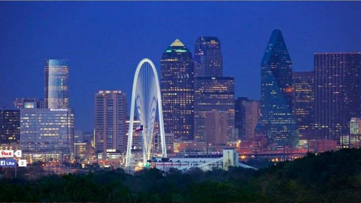 Dallas skyline - night - This is a great wide shot. Love this composition. Could be good time lapse as well.