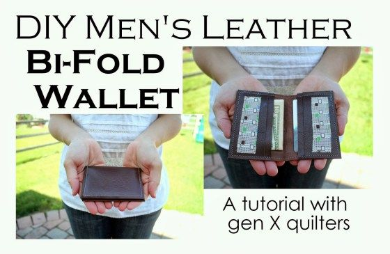 Make a Men's Simple Leather Bi-Fold Wallet A Free Sewing DIY from Gen X Quilters