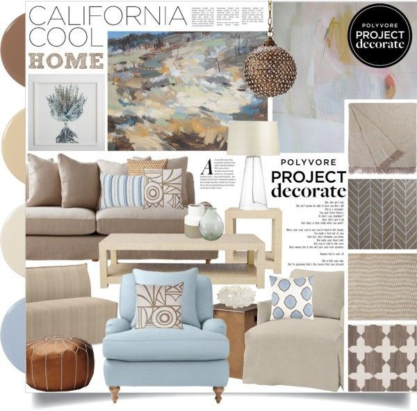 """""""Project Decorate: California Cool With Flourish Design and Style"""" by designsbytraci on Polyvore"""