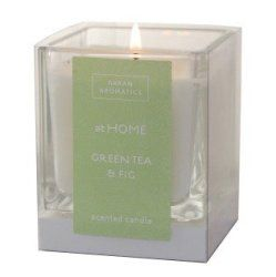 Arran Aromatics At Home Green Tea & Fig Scented Candle -Made In Scotland - This candle is fresh and uplifting, with a delicious fragrance of the warmth of sun ripened fruit spiked with greenery and citrus notes for a soul soothing experience. Burns for up to 35 hours.