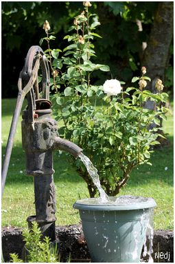 I have an old pump in the ground,  My goal is to connect water to it and make it into a fountain. db