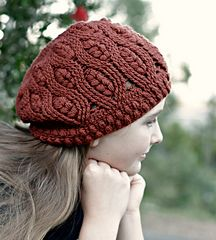 Frostberry Hat | crochet pattern for a slouchy, cabled hat by Sarah Jane Designs