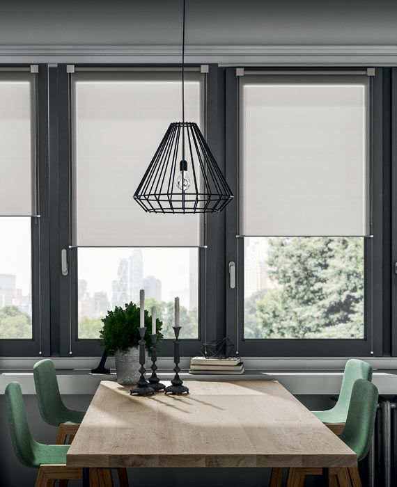 Mini Roll Is An Elegant And Contemporary Window Frame Fitted Blind Modern Window Coverings Blinds For Windows Living Rooms Contemporary Windows