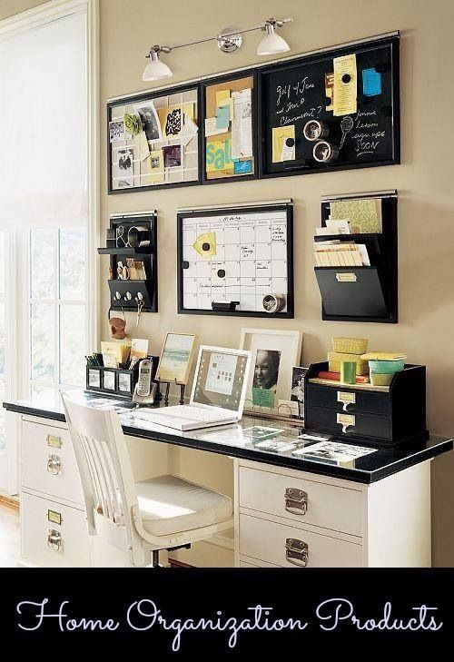 Staying organized increases efficiency and productivity.These are great organization product examples for setting up your home office! | #office #organization #professional #workplace #productivity
