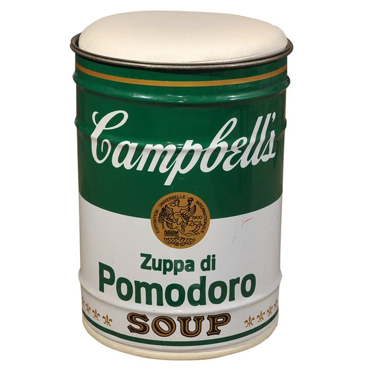 Studio Simon Andy Warhol Campbell's Soup Can | From a unique collection of antique and modern stools at https://www.1stdibs.com/furniture/seating/stools/