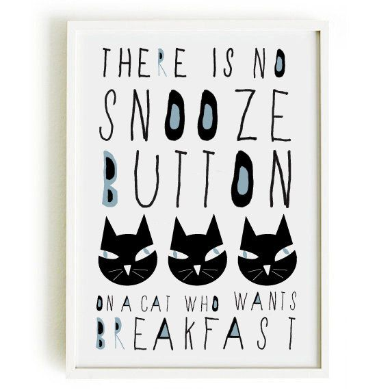 CAT quote poster-cat poster- art print by nicemiceforyou
