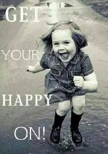 Whether its a pint of chocolate ice cream, or singing in the rain, whatever makes u happy...DO it