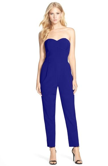 Adelyn Rae Strapless Jumpsuit available at #Nordstrom