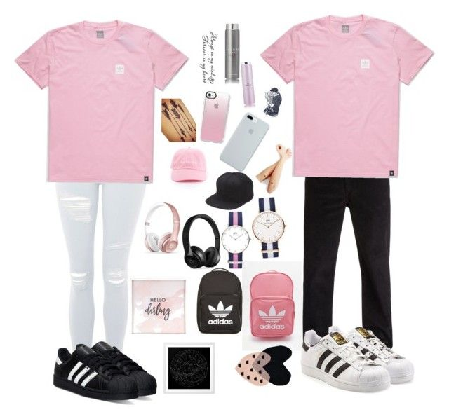 """Girl and boy 💗👄👚🦄"" by ola-kruszyk on Polyvore featuring Quiksilver, adidas, adidas Originals, Topshop, Daniel Wellington, ETUÍ, Casetify, Vans, Beats by Dr. Dre i Chanel"