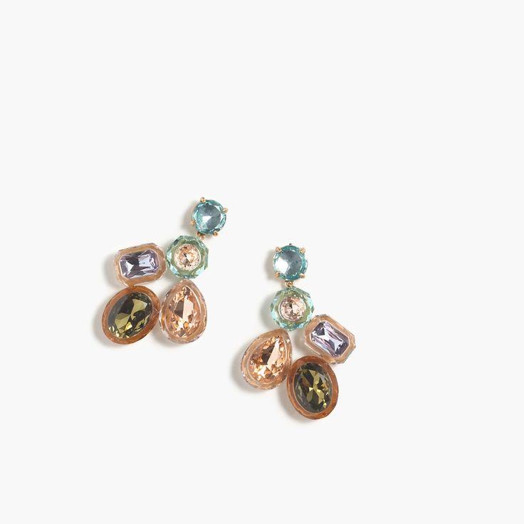 J.Crew Gift Guide: women's jewel box cluster earrings.