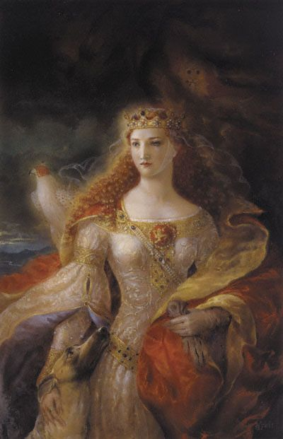 Beautiful:  Eleanor of Aquitaine - queen of France (1137–1152) and of England (1154–1189) - by Kinuko Y. Craft