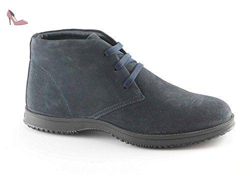IGI & CO 66833 bleu sport en daim chaussures de nuit hommes à lacets bottes de cheville 46 - Chaussures igico (*Partner-Link)