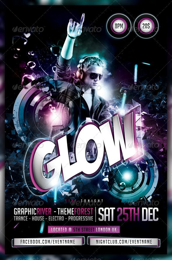 Best Disco Graphic Images On   Party Flyer Print