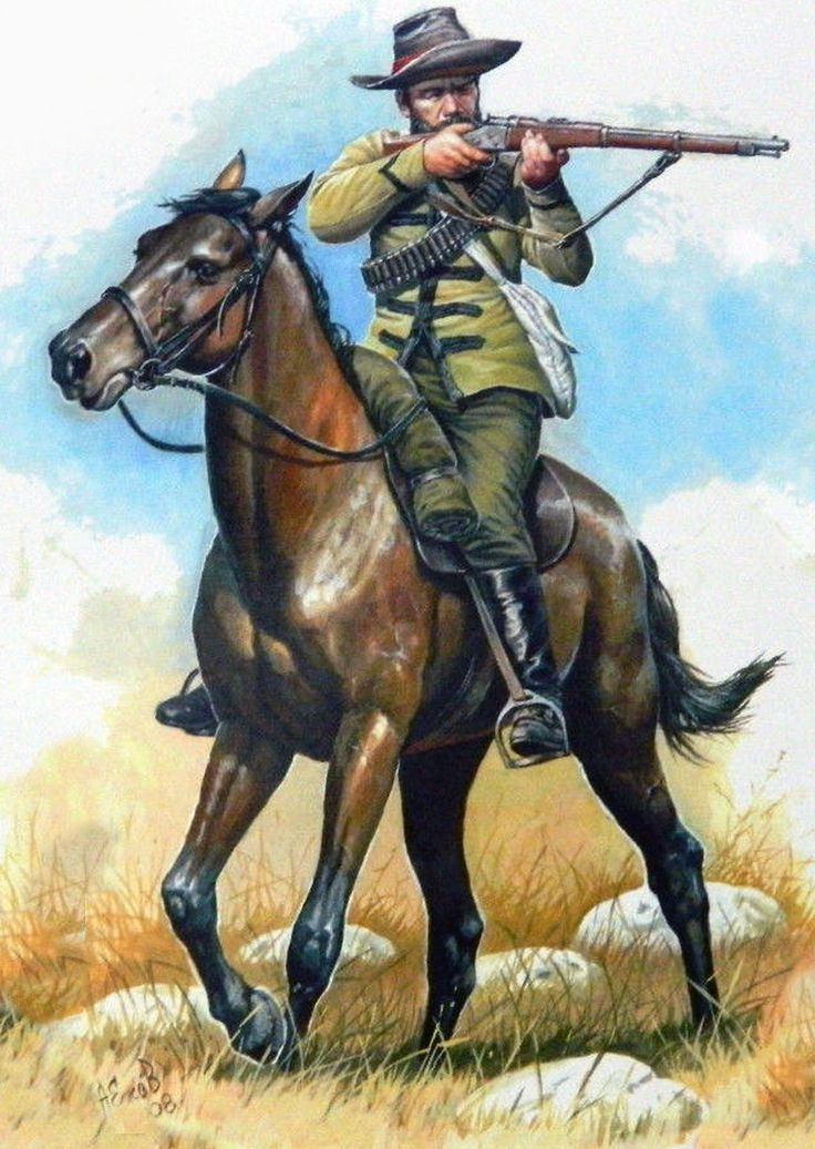 Boer mounted commando