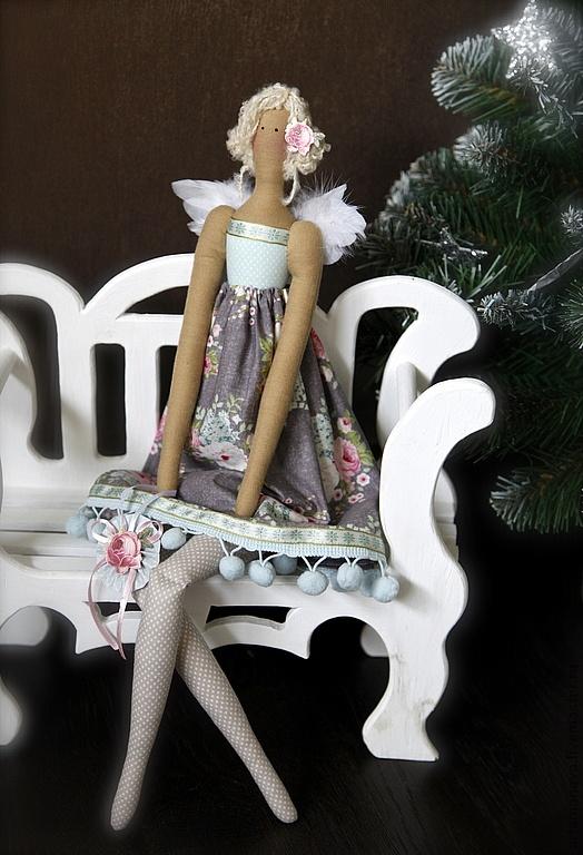 Куклы Тильды ручной работы.  Ярмарка Мастеров - ручная работа Рождественский Ангел (в стиле Тильда).  Ручная работа.