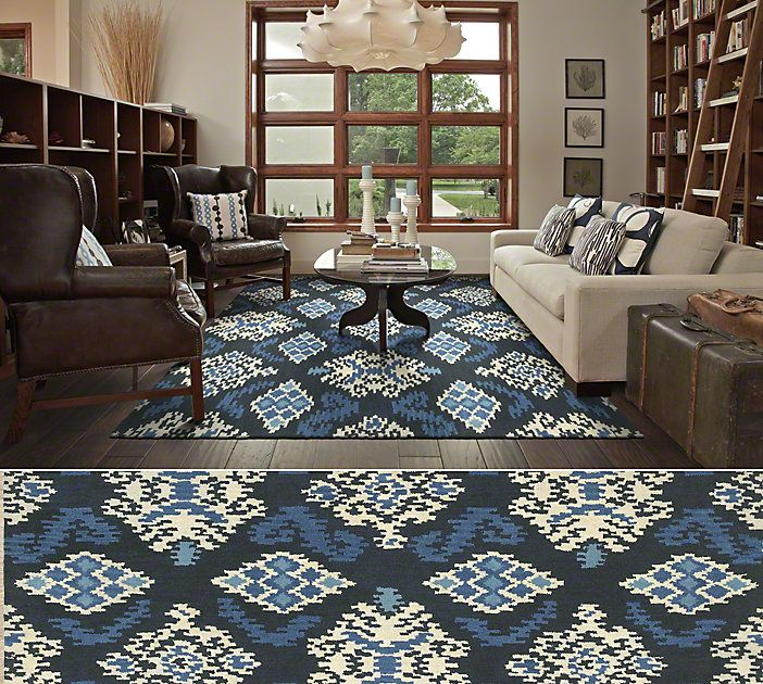 Shaw Living Area Rug In The World Market Indonesia Collection Style Ikat Medallion Color