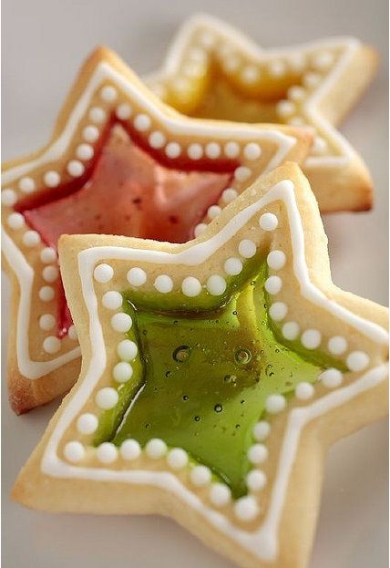 Stained Glass Cookies... perfect for Christmas! Doesn't have to look that good to taste good.