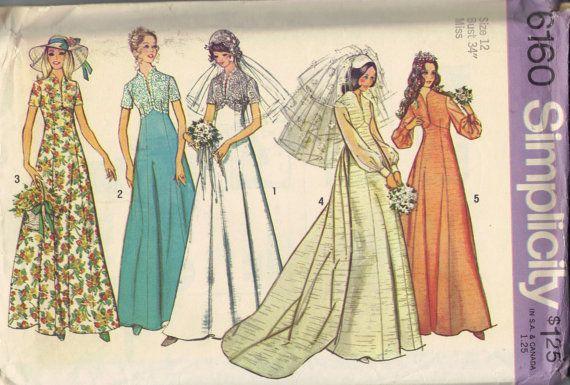 Vintage Retro Wedding Dress Bridemaids Gown by AdeleBeeAnnPatterns, $9.50