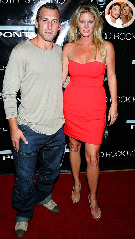 Jarrett Stoll and his wife Rachel Hunter