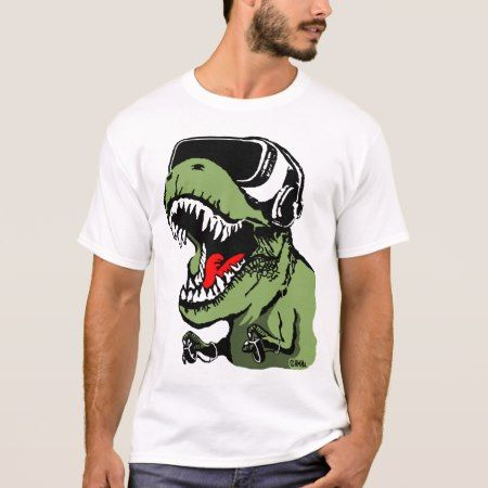 VR T-rex T-Shirt - tap, personalize, buy right now!