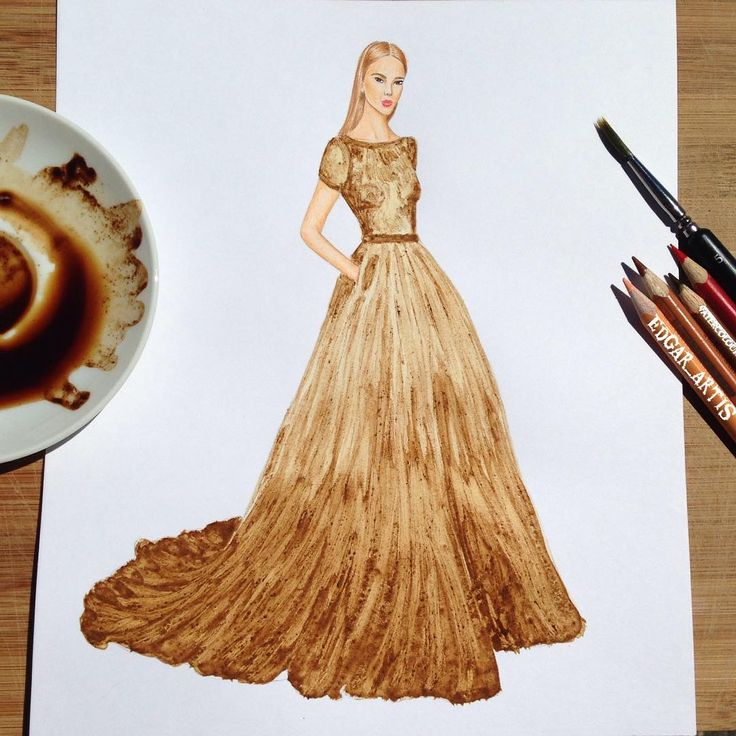 Dress painted with coffee - Edgar Artis