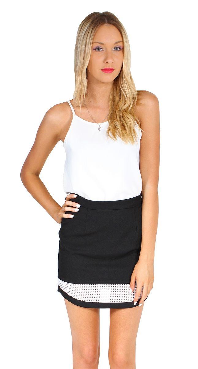 hook, line and sinker skirt black [gyh97290] - AU$35.00 : dragonberry!