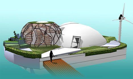 Edificios Ecosostenibles Ecocasa flotante ¿Autosuficiente?