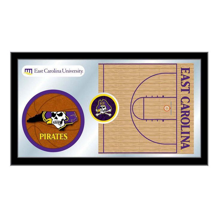 "East Carolina Pirates 15"" x 26"" Basketball Mirror"