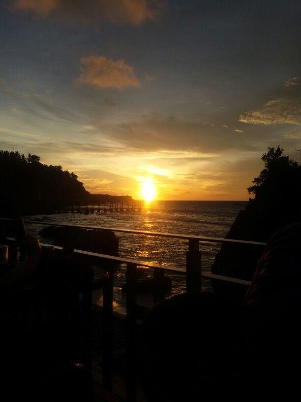Amazing sunset Jimbaran Bali
