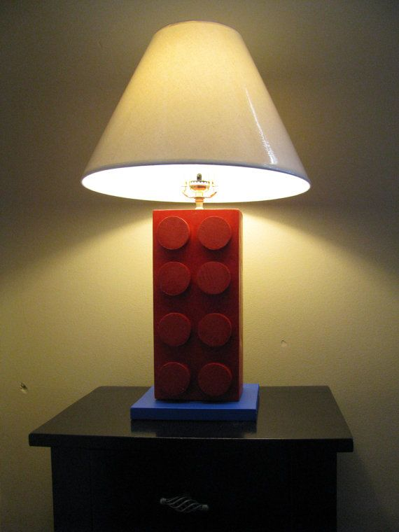 Lego r style lamp unique kids bedroom decor by for Unique bedroom lamps