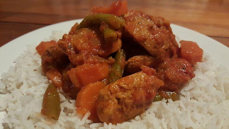 Pumpkin and Chicken sausage Curry