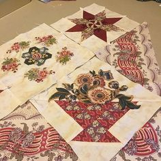 """Playing with my """"Giggleswick Mill """" line of fabric from Andover Fabrics .My class at Threadbear Sat 23rd is booked out but as there is a waiting list Corliss has added another class on Sat 27th Aug . If interested call Threadbear on 03 54721881 ."""