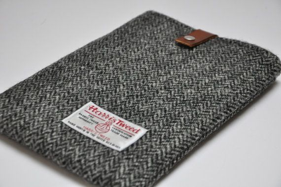 "HARRIS TWEED fabric case for 6"" Kindle eReader/Nook/Kobo - Original Collection on Etsy, £25.00"