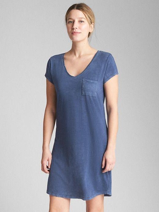 52d701d9209 Gap Womens Short Sleeve Pocket T-Shirt Dress Dark Night | Products ...
